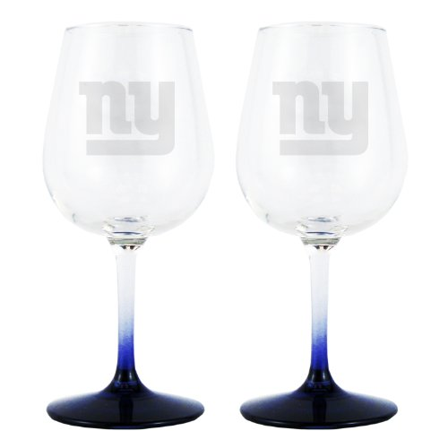 NFL New York Giants 12.75-Ounce Wine Glass Set at Amazon.com