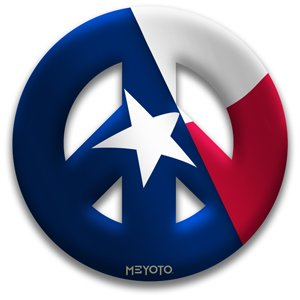 Amazon.com : Peace Symbol Window Clings of Texas Flag : Other Products
