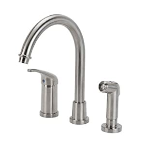 Glacier Bay Builders Single Handle Hi Arc Kitchen Faucet