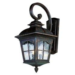 Trans Globe Lighting 5429 AR 21-1/2-Inch 2-Light Outdoor Small Wall Lantern, Antique Rust