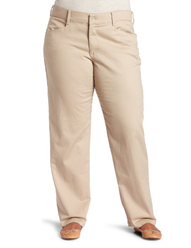 Lee Jeans Women's Relaxed Fit Plain Front Pant