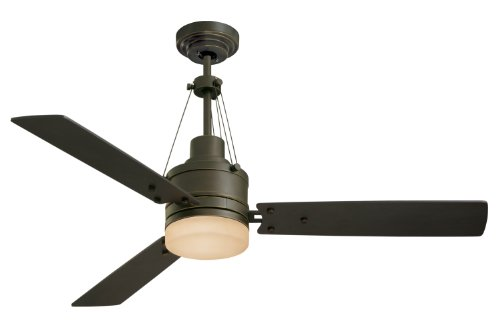 B002SRHKTM Emerson CF205GES Highpoint Indoor Ceiling Fan, 52-Inch Blade Span, Golden Espresso Finish, Chocolate Blades and Sandstone Glass