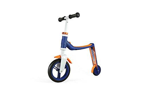 Authentic sports & toys, Monopattino e biciclettina senza ruot 2-in-1 Highwaybaby, Blu (Blau/Orange)