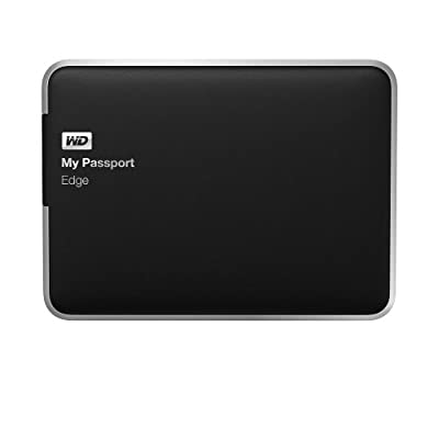 WD My Passport Edge for Mac 500GB Portable USB 3.0 External Hard Drive Storage (WDBJBH5000ABK-NESN)