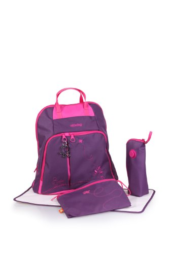 okiedog Mondrian Trek diaper bag & backpack (purple) - 1