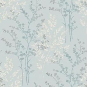 Fern Motif Teal Wallpaper by New A-Brend