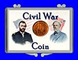 "3″ x 2″ Snaplock Coin Holder for "" Civil War Coin or Token – Generals"" (Without Coin)"