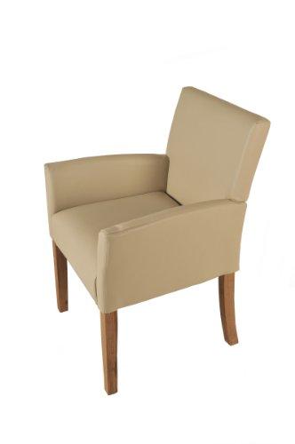 SAM-Design-Armlehnstuhl-in-creme-eiche-CALBOLA-Polsterstuhl-Stuhl-komfortabel-Lieferung-erfolgt-ber-Paketdienst-teilzerlegt