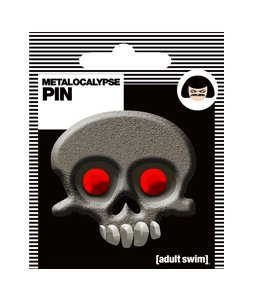 Metalocalypse Skull Pewter Pin 05 50