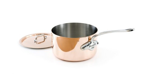 Mauviel M'Heritage M150S 6110.17 Copper 1.9-Quart Saucepan With Lid, Cast Stainless Steel Handles.