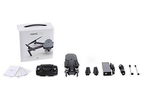 DJI Drone Mavic Pro con Videocamera 4K/30 fps, 12MP, Grigio
