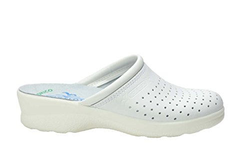 Ciabatte Sanitarie Donna Ciabatta Blu Bianco Bianca Bianche Made In Italy FLY FLOT Art 311 (38, Bianco)