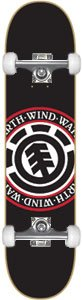 Element Elemental Seal Black Complete Skateboard - 7.87 w/Raw Trucks