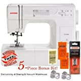 Janome HD3000 Mechanical Sewing Machine Bundle with 5 Piece Bonus Kit
