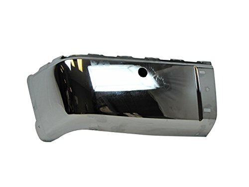 2007-2012 CHEVY SILVERADO (NEW STYLE) / 2007-2012 GMC SIERRA (NEW STYLE) REAR BUMPER CAP CHROME (STEEL) WITH SENSOR HOLE LH=DRIVER SIDE (08 Silverado Chrome Bumper Cap compare prices)