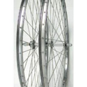 Wheel Master Rear Bicycle Wheel 26 x 1 3/8 36H, Steel, Bolt On, Silver, 5/6 Sp Freewheel