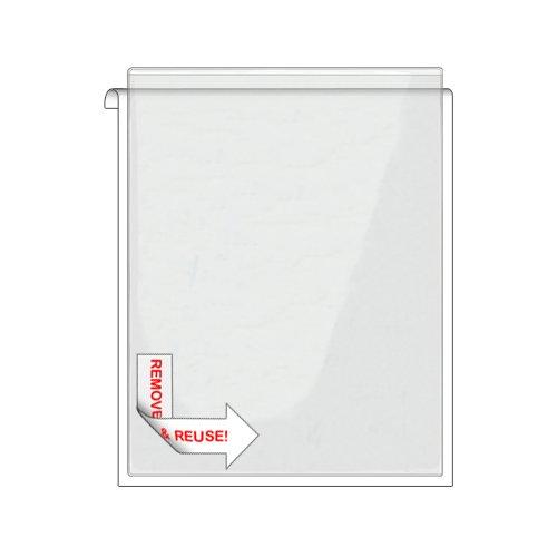 Storesmart® Remove & Reuse - 25 Peel & Stick Letter-Size Pockets - Open Short Side - Vinyl Plastic (Psr582S25) front-632257