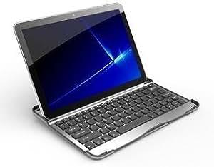 """Clavier AZERTY - Coque et Clavier Bluetooth en Aluminum - Couleur Argent / Noir - Spécialement conçu pour Samsung Galaxy Tab2 10,1"""" P7500 P7501 P7510 P7511 P5100 P5110 (Non compatible Samsung Galaxy Note 10.1"""")"""
