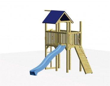 Winnetoo Spielturm Set 1 mit Rutsche und Klettersteg, inkl. aller Schrauben und Bodenankern kaufen