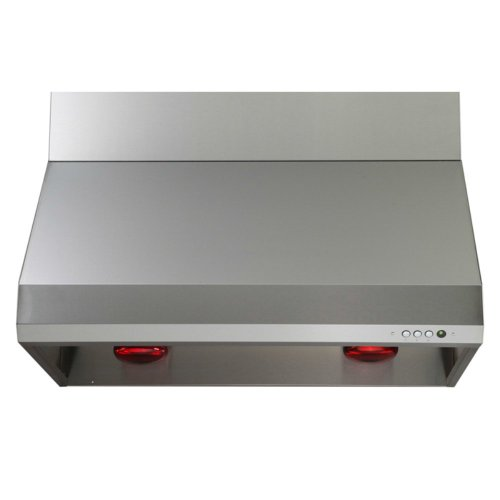 Windster Windster 48W In. Ra-35 Series Wall Mounted Range Hood, Silver front-139014