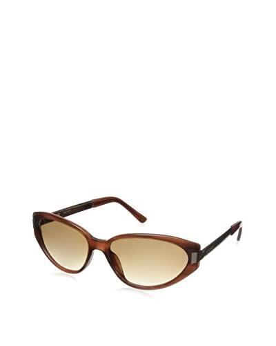 Escada Women's SES229M Sunglasses, Brown/Pink