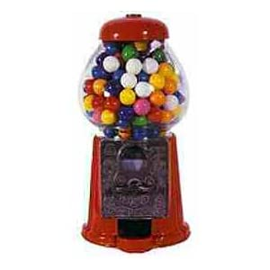 Carousel Petite Size Antique Gumball Machine with 8oz of Gumballs