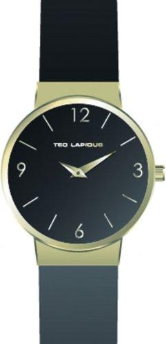 Ted Lapidus A0519PNAN - Orologio da polso donna, pelle, colore: nero