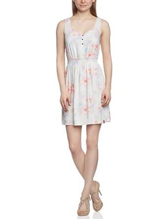edc by ESPRIT - Robe - Sans manche Femme - Beige - Beige (299 brown colorway) - FR : 38 (Brand size : S)