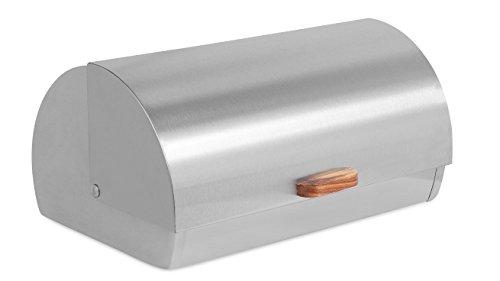 Internet's Best Stainless Steel Bread Box | Kitchen Food Storage Container | Metal Bread Holder | Roll Top | 15.25