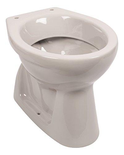Stand-WC | Tiefspüler | Abgang innen senkrecht | Manhattan | Grau | Toilette | Stand-WC | Klo |Keramik | Gäste-WC | Bad | Badezimmer