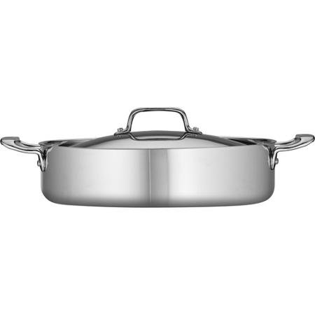 Tramontina 5-Qt Tri-Ply Clad Covered Braiser, Stainless Steel