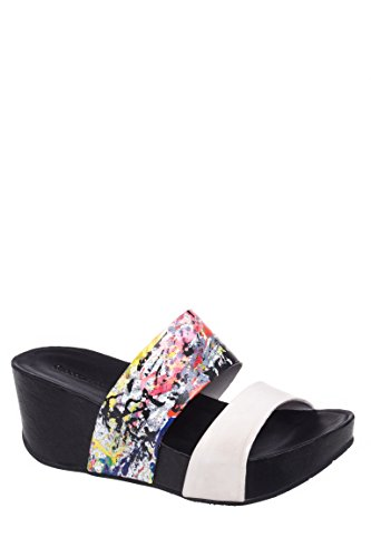 Metalica Slip On Wedge Sandal