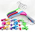 Known anti-sliding of colored children glue cotton garment hanger cartoon and children's clothes hanger racks pants rack 87g