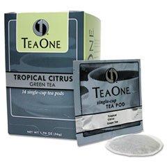 - Tea Pods, Tropical Citrus Green, 14/Box
