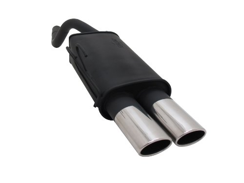 Novus Sportauspuff, Endschalldämpfer für Fiat Punto II, Typ 188, Motorvarianten u. Bemerkungen: 1.2 Bj. 09/1999 - 06/2003, Endrohrvariante: 2 x 85/58mm AM-Design, Artikelnummer: A5042EAM