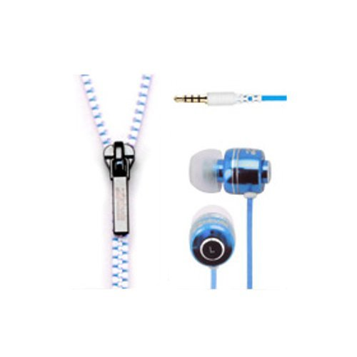 センチュリー Zipbuds ジップバズ ジッパー式イヤホン ブルー&ホワイト CT-REBLWT