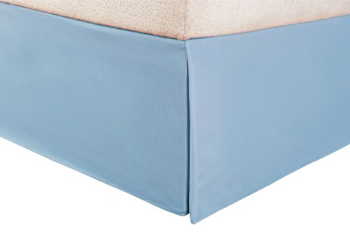 Blue Nile Mills 1500 Twin Xl Bed Skirt Microfiber Solid-Light Blue front-98024