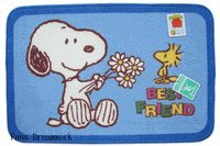 Peanuts Snoopy & Woodstock : Snoopy Area Rug (1 pc : Blue color)