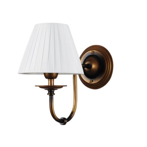 How Do You want Cheer Lighting Brass Vintage Wall Lamp With Fabric Shade - Sara G. Huttonuae