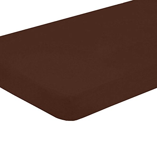 Sleek Linens 1Pcs Multi Ruffle Bedskirt Solid (Drop Length: 22 Inches) Queen Xl 500Tc 100% Egyptian Cotton High-Grade Chocolate Solid front-1029251