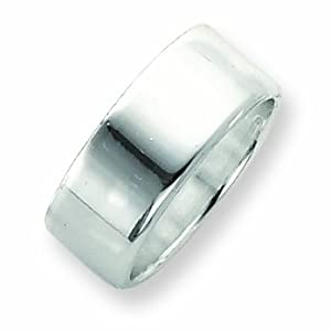 Sterling Silver 9mm Flat Band