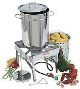 Bayou Classic 1195 Stainless-steel 32-quart Turkey-fryer Kit With Stainless-steel Burner from Bayou Classic
