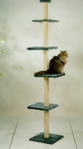 Cat-Dream-Katzenkratzbaum-Kratzstamm-Kratzturm-Kratzbaum-raumhoch-in-beige-Hhe-ca-230-260-cm