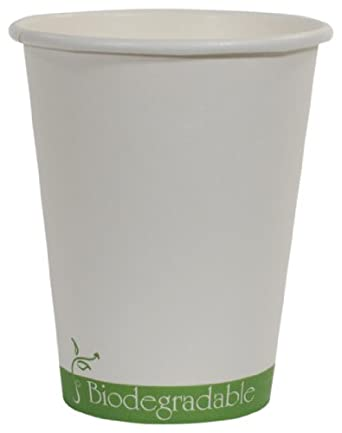 "IFN Green 30-1008 Paper/PLA Hot Cup, 8 oz Capacity, 3.0"" Length x 3.0"" Width x 3.8"" Height (Case of 1000)"