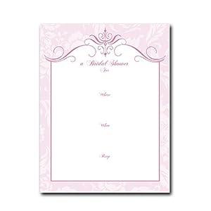 Bridal Shower Invitation - Set of 10 Accordion Style Die-cut Invitations