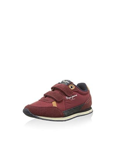 Pepe Jeans London Zapatillas Sydney Velcro Burdeos