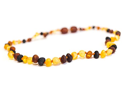 Amber Teething Necklace For Toddlers And Infants, Raw (Unpolished) - 1