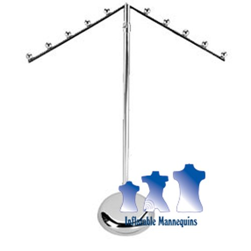 Cascading, Adjustable Garment Stand Tall, Round Base (Round Garment Rack compare prices)