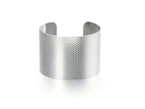 Metal Cuff - Silver Finish With Triangular Detailing