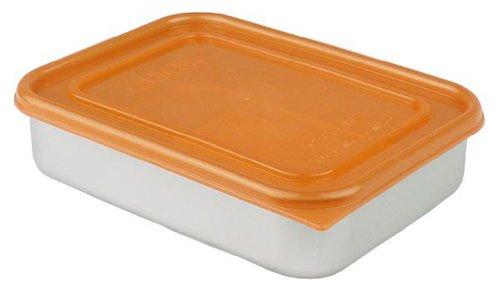 AKAO(アカオ) アルミ急冷・保存容器 カラークイッキー 浅型中 1.1L オレンジ